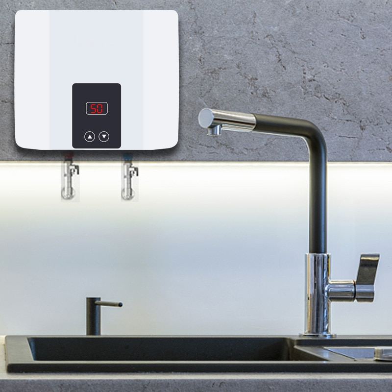 Instant Tankless Electric Water Heater Wall Mounted Water ...
